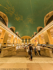 Grand Central Fisheye (DSC04868-Edit) (Michael.Lee.Pics.NYC) Tags: newyork grandcentralterminal architecture symmetry fisheye sony a7rm2 rokinon12mm28fisheye