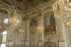 Grand Hall (Princess Ruto) Tags: nymphenburg nymphenburgpalace schlossnymphenburg grandhall hall museum fresco ceiling baroque chandelier gold germany munich fancy art beautiful painting