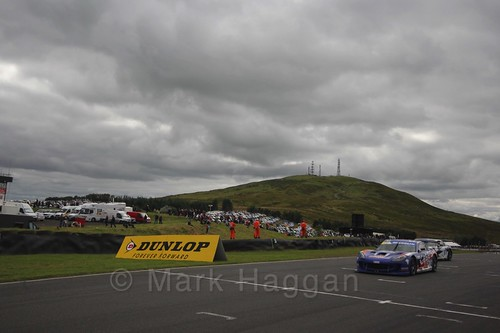 Will Burns in the Ginetta GT4 Supercup at the BTCC Knockhill Weekend 2016