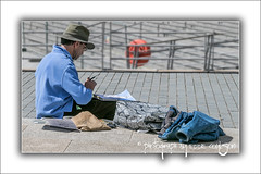 Artist At Work (Fermat48) Tags: liverpool pierhead waterfront artist painting drawing liverpoolloves2026