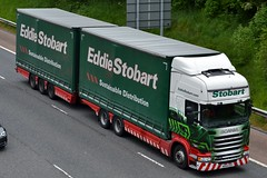 Stobart M477 MX64 GSV Suzanne Jordan M6 Penrith 1/6/16 (CraigPatrick24) Tags: eddiestobart stobartgroup stobart road vehicle transport truck lorry trailer delivery logistics cab scania scaniar450 m6 penrith suzannejordan m477 stobartcurtainsider curtainsider drawbar roadtrain mx64gsv