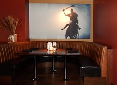 Restaurant Booth (KiwiCharlotte - Insta charli_kalaki) Tags: mall booth restaurant image santamonica dining seating decor polo mainplace redwoodgrille