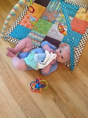 "Paul on His Activity Mat • <a style=""font-size:0.8em;"" href=""http://www.flickr.com/photos/109120354@N07/15666746467/"" target=""_blank"">View on Flickr</a>"