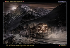 CP 9836 West at Greely- Moonrise-400 (Revybawb2010) Tags: canada bc railways cpr revelstoke locomotives gelocomotives