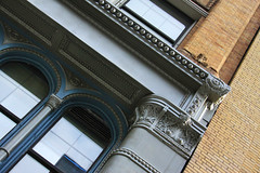 Diagonal Details (lefeber) Tags: city nyc newyorkcity windows urban newyork building architecture facade downtown columns angles arches bowery angled