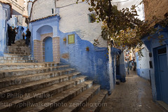 Streets of Chefchaouen II (Phil Walker Photo) Tags: travel blue houses homes people white streets steps exotic winding local paths wonderment souks discovery chefchaouen iconic inspiring cultural authentic doorways moroccan hooded alleyways evocative chefchaouene