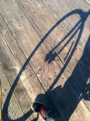 Bike wheel shadow