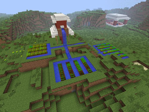 MinecraftEDU Water Challenge Irrigated F by Wesley Fryer, on Flickr