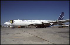 3D-SGG - Sharjah (SHJ) 30.10.2000 (Jakob_DK) Tags: 2000 cargo boeing 707 sharjah shj boeing707 b707 707300 omsj airgulffalcon 707399c gulffalcon 3dsgg