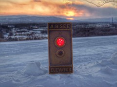 Sun Setting over the AB See button Retouch (DieselDucy) Tags: see lift elevator ab ascensor lyfta aufzug ascenseur elevatorbutton absee lyftu abseeelevator