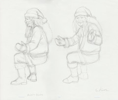 Metalocalypse - Rockzo Santa Signed Production Drawing (candoartist) Tags: animation animationart dethklok metalocalypse productioncel drrockzo productiondrawing