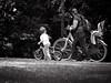 'What's there , mum ? ' , Streetphotography, iso 200. FZ50. (classicphoto62 (Schopenhauer1962)) Tags: bw monochrome lumix iso200 streetphotography ps panasonic 1100 lightroom 80mm fz50 cs5
