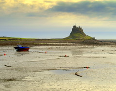 Lindisfarne Castle at Holy Island (Tony Worrall Foto) Tags: county uk winter sea wild england cold castle beach wet water clouds island countryside boat seaside high sand stream tour open place top country hill north visit location east hills holy shore area beached northern update northeast chill rolling holyisland attraction lindisfarnecastle iconie welovethenorth 2015tonyworrall