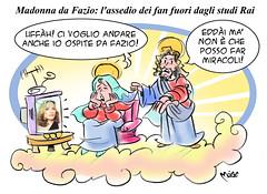 Madonna da Fazio (Moise-Creativo Galattico) Tags: madonna fabio vignette satira attualit moise giornalismo ciccone fazio rai3 editoriali moiseditoriali editorialiafumetti