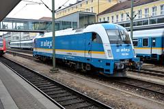 ALEX 183 004, Regensburg Hbf (Howard_Pulling) Tags: camera train germany bayern deutschland bavaria nikon july rail railway zug trains german munchen regensburg bahn 2014 howardpulling d5100