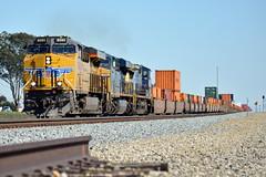UP KG4LB-05 (caltrain927) Tags: california ca railroad train pacific hill union double stack container transportation ac ge loaded beaumont csx uprr intermodal csxt gevo es44ac c45accte ac45ccte es44ah