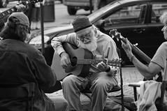 playing in the band (jtr27) Tags: street blackandwhite musician musicians portland candid sony maine band alpha manualfocus il