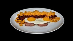 Food Porn:  Spam with Eggs Over Easy, Chili, Cheese, & Fritos (Oliver Leveritt - BIZZEEE) Tags: food cheese chili spam flash fritos foodporn eggs speedlight sb800 abetterbouncecard afsnikkor2470mmf28ged oliverleverittphotography nikond610