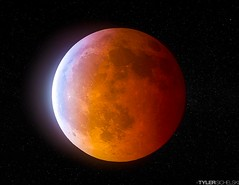 Bloodmoon (TySkiPhoto) Tags: orange moon nature canon stars landscape solar eclipse unitedstates space awesome astro system telescope astrophotography dslr universe cosmos lunareclipse bloodmoon 2014 canon6d canonofficial tyskiphoto tylersichelski