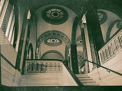 I Had Mere Minutes To Return To My Box (MPnormaleye) Tags: city urban classic architecture stairs opera theatre library columns skylight stairway landing mezzanine utata marble ironwork pillars bannister beauxarts