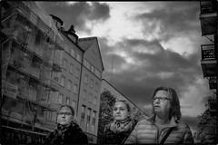 Mother and daughters? (stejo) Tags: street cloud stockholm mother daughters streetphoto hornsgatan moln