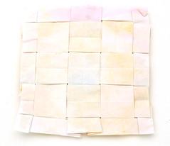 Fujimoto Tesselation Plain weave back (Pliages et vagabondages) Tags: origami tessellation décoration fujimoto