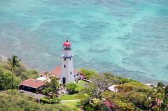 Diamond Head Lighthouse (sarowen) Tags: blue lighthouse green water hawaii oahu bluewater crater diamondhead honolulu honoluluhi diamondheadcrater honoluluhawaii diamondheadlighthouse diamondheadcraterstatemonument