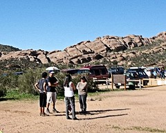 007 Ready To Start (saschmitz_earthlink_net) Tags: california rocks parking orienteering rockformation aguadulce vasquezrocks losangelescounty 2015 laoc losangelesorienteeringclub