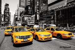 Time Square, New York (Jiri Sigmund) Tags: new york city nyc newyorkcity bw usa ny newyork topf25 car yellow america square topf50 nikon time manhattan taxi broadway yellowcab timesquare desaturated nikkor bigapple sigmund bigcity yellowtaxi 1685 ji d7100 jisigmund jirisigmund siors