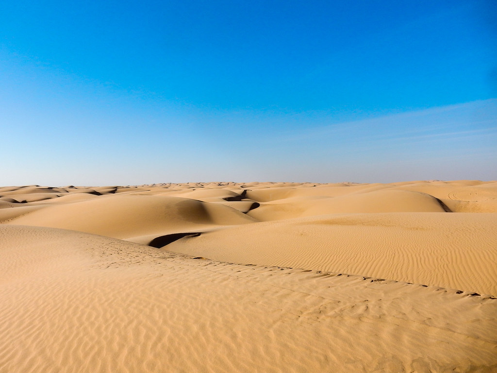 Sand as far as the eye can see