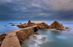 (Jona Mago) Tags: longexposure sea sky espaa seascape clouds mar spain catalonia girona cielo nubes catalua largaexposicin neutraldensityfilter paisajemarino filtrodensidadneutra santacristinadearo hitechfilters calacanyet marmediterrraneo