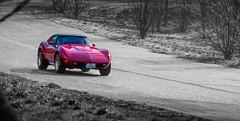 Corvette Stingray (Ludovic Petitfrere) Tags: show red sport rouge nikon stingray voiture motor nikkor corvette 70200 monstre bruit moteur d7100