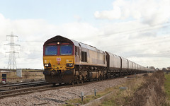 66117 Sudforth Lane 21/02/2015 (Flash_3939) Tags: uk train gm diesel rail railway db locomotive february coal liver dbs 2015 class66 ews unbranded railfreight 66117 dbschenker sudforthlane