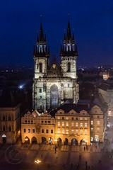 Prague Jan 2015 (6) 390 - Evening Lights from the Town Hall Tower (Mark Schofield @ JB Schofield) Tags: new old city bridge tower castle church skyline town hall europe track republic lift rooftops czech prague cathedral little bell interior gothic transport columns tram streetlife charles praha stnicholas quarter marble baroque bloc cobbles eastern mala vltava hradcany shaft strana