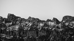 Your Rocky Spine (John Westrock) Tags: blackandwhite landscape mountains nature rugged pacificnorthwest canoneos5dmarkiii canonef100400mmf4556lisusm outdoors contrast johnwestrock pwlandscape monochrome washington