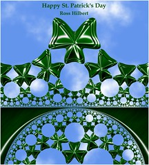 Happy St Patrick's Day (Ross Hilbert) Tags: art chaos digitalart mandala computerart fractal escher tiling generativeart hyperbolic mathart fractalart algorithmicart hyperbolicgeometry orbittrap henripoincare fractalsciencekit poincaredisk circleinversion hyperbolictiling