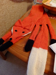 Fox scarf (stevenbrandist) Tags: scarf foxy leicestershire clothes knittingpattern fox knitted ironic hunted