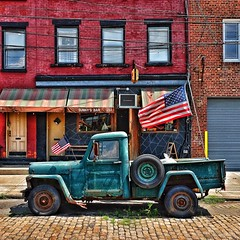 Sunny's Bar (AMRosario) Tags: nyc brooklyn truck street jalopy fujixt10 fuji antique fujifilm streetphoto streetphotography redhook newyork retro sunnysbar
