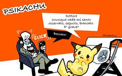 PokemonGo e Psikachu: la sindrome di Pikachu e i suoi devastanti effetti. C' gente che (SatiraItalia) Tags: satira pokemongo pikachu sindrome