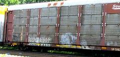 wayster - (timetomakethepasta) Tags: wayster freight train graffiti autorack art sp southern pacific