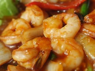 Prawns in Chilli Sauce+