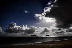 DSC_6436 (reflective perspicacity) Tags: oahu honolulu hawaii 2016 vacation summer july2016 nikond300 night pacificocean longexposure lanikai lanikaibeach kailua east h1 h3 h2 usa unitedstates paradise