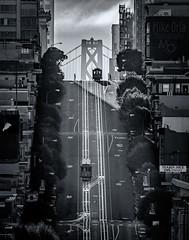 Nob Hill II (mikeSF_) Tags: california sanfrancisco nobhill pine sutter cablecar trolley train rail sunrise sunset hill hills russianhill baybridge bridg outdoor sf sanfran landscape mikeoria pentax k3ii dfa150450 150450