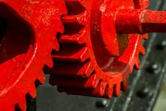 20160625-01_Interlocking Teeth_Crane _Cogs_Braunston Marina (gary.hadden) Tags: red crane teeth cogs gears redpaint braunstonmarina