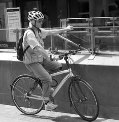 Urban cyclist (IanAWood) Tags: london streetphotography knightsbridge urbanlife summerinthecity walkingwithmynikon nikondf nikkorafs58mmf14g