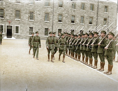Railway Protection, Repair and Maintenance Corps, Salvage Corps (1922-1924). (JohnOByrne.) Tags: ireland irish green history soldier army major uniform state general transport rifle workinprogress free railway pride parade cap repair corps maintenance restored 1922 barracks salvage protection troops defence supply 1924 freestate mulcahy armoured glassplate heireann disbandment defenceforcesireland majorrussell generalmulcahy defencefocesireland