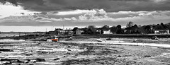 Little Red Trawler (Solent Poster) Tags: green red trawler pentax k3ii 1685mm 2016 seascape landscape hampshire west sussex coastline boats monochrome bw