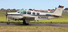 Beech A36 Bonanza N36665 Lee on Solent Airfield 2016 (SupaSmokey) Tags: beech a36 bonanza n36665 lee solent airfield 2016 eghf