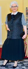 Ingrid022516 (ingrid_bach61) Tags: pleatedskirt faltenrock waistcoat weste bowblouse schleifenbluse mature