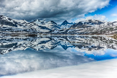 IMGP1062_HDR (jarle.kvam) Tags: valdres tyin fondsbu eidsbugarden jotunheimen norway reflection speiling spring vr